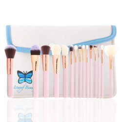 Ltayef Beauty -  In Beige Cover Makeup Brush Set - 15 Pcs