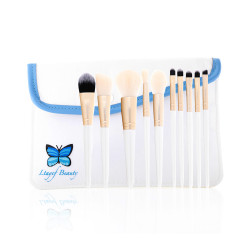 Ltayef Beauty  - In White Cover Makeup Brush Set - 9 Pcs