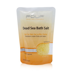 Fouf Dead Sea Bath Salt- Yellow - 250g