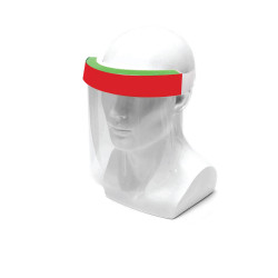 Face Shield Protective Anti Splash Dust-proof Full Face Cover Mask With Velcro Tape - Red