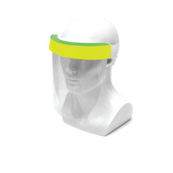 Face Shield Protective Anti Splash Dust-proof Full Face Cover Mask With Velcro Tape - Yellow