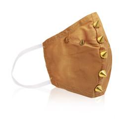 Aya Stud Face Mask  - Gold