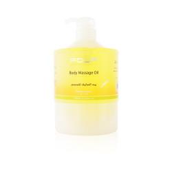 Fouf Body Massage Oil Essential Oils & Vitamin E - Lemon - 1000 ml