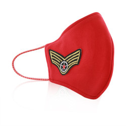 Aya Face Mask - Aviation Label - Red String