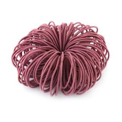 Elastic Nylon Hair Ropes 4.5 Cm - Purple - 100 Pcs Set