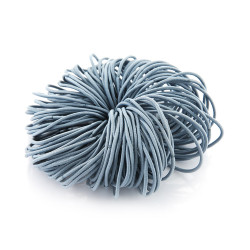 Elastic Nylon Hair Ropes 4.5 Cm - Light Blue - 100 Pcs Set