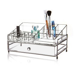 Victoria Professional Acrylic Cosmetic Organizer With 1 Drawer