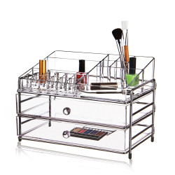 Victoria Professional Acrylic Cosmetic Organizer With 2 Drawer