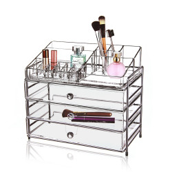 Victoria Professional Acrylic Cosmetic Organizer With 3 Drawer