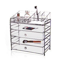 Victoria Professional Acrylic Cosmetic Organizer With 4 Drawer