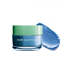 Loreal Paris Pure Clay Blue Mask With Marine Algae For Clears Blackheads And Shrink Pores - 50 ml