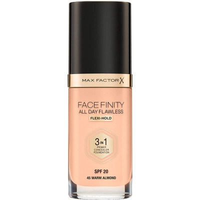 Max Factor Facefinity All Day Flawless 3 in 1 Foundation - Warm Almond - N 45