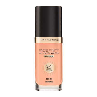Max Factor Facefinity All Day Flawless 3 in 1 Foundation - Bronze - N 80