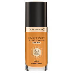 Max Factor Facefinity All Day Flawless 3-In-1 Foundation - N 87 - Warm Caramel