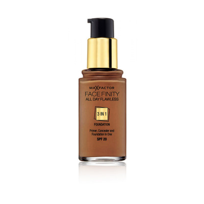 Max Factor Facefinity All Day Flawless 3 in 1 Foundation - Sun Tan - N 100