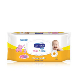 Septona Calm N' Care Baby Wipes Chamomile - 64 Pcs