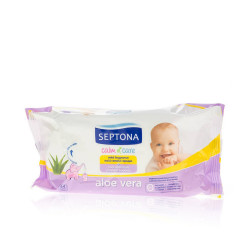 Septona Calm N' Care Baby Wipes With Aloe Vera - 64 Pcs
