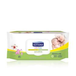 Septona Calm N' Care Baby Wipes Sensitive - 64 Pcs