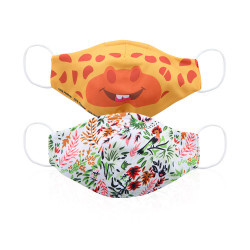 Zippy Double Layer Giraffe Pattern Face Mask For Kids 3-10 Years Old