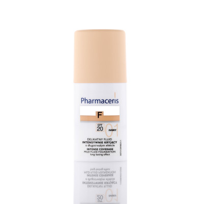 Pharmaceris Intense Mild Fluid Foundation Long Lasting Effect With  SPF 20  - N 1 - Ivory