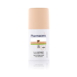 Pharmaceris Mattifing Pore Refining Fluid Foundation With SPF 25 - N 1 - Ivory