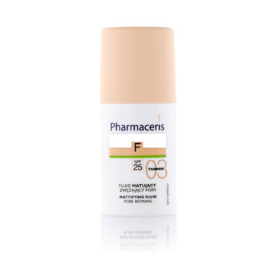 Pharmaceris Mattifing Pore Refining Fluid Foundation With SPF 25 - N3 - Tanned