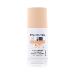 Pharmaceris Protective-Corrective Fluid Foundation With SPF 50 - N 01- Ivory