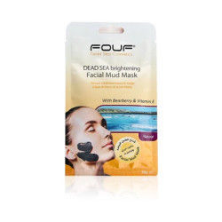 Fouf - Dead Sea Brightening Facial Mud Mask - With Bearberry & Vitamin E - 50g