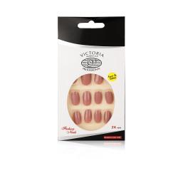 Victoria Professional Shining Nails Tips - 24 Pcs - S 12