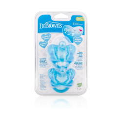 Dr.Browns Silicone Pacifiers - Blue - 2 Pcs