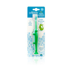 Dr.Browns Infant Toothbrush - Crocodile Green