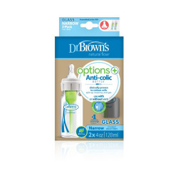 Dr.Browns Options Narrow Glass Baby Bottle - 2 Pack
