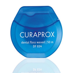 Curaprox -  Df 834 Floss Waxed  - With Mint Flavour 1X50M