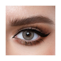 Loroyal Colored Contact Lens - Crystal Gray - 3 Month