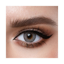 Loroyal Colored Contact Lens - Crystal Light Gray - 3 Months