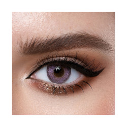 Loroyal Colored Contact Lens - Crystal Violet - 3 Months