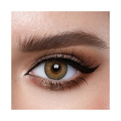 Loroyal Colored Contact Lens - Crystal Light Green - 3 Months