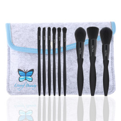 Ltayef Beauty - In Grey Cover Makeup Brush Set  - 9 Pcs