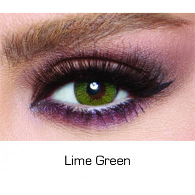 Bella - Contact Lenses Glow - Lime Green - Monthly