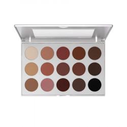 Kryolan Professional Eyeshadow Palette 15 Colors - Smokey Roze