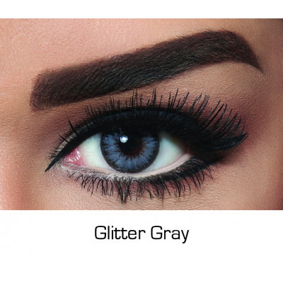 Bella - Contact Lenses Diamond - Glittery Gray - Monthly