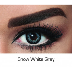 Bella - Contact Lenses - Snow White Gray - Monthly