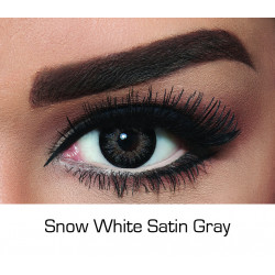 Bella - Contact Lenses - Snow White Satin Gray - Monthly