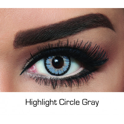 Bella - Contact Lenses - Highlight Circle Gray  - Monthly