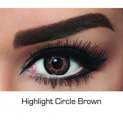 Bella - Contact Lenses - Highlight Circle Brown - Monthly